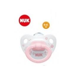 NUK Sucette en silicone T1 Baby Rose avec boîte