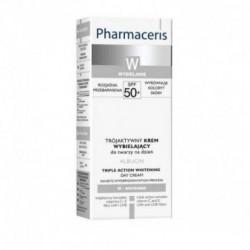 PHARMACERIS W TRIPLE ACTION CRÈME DE JOUR ÉCLAIRCISSANT SPF50+, 30 ML