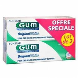 Offre Spéciale Gum Original White Dentifrice - Anti-Coloration 75ml (lot de 2)