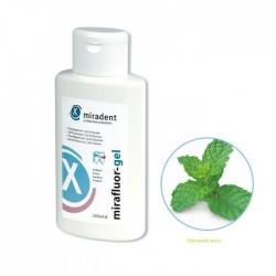 Miradent Mirafluor Gel Gel de fluoration des dents 1.23% arôme menthe (250 ml)