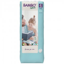 Bambo Nature Taille 6 (16+ Kg), 40 couches