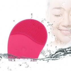 Kemei brosse nettoyante super-sonique en silicone vibrante rechargeable pour le visage