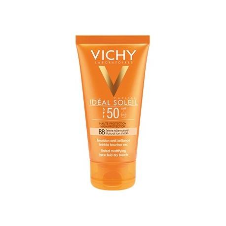 VICHY IDEAL SOLEIL - Emulsion Toucher Sec Teintée SPF 50