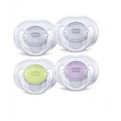 AVENT Sucettes transparentes 3-6 mois SCF124/01