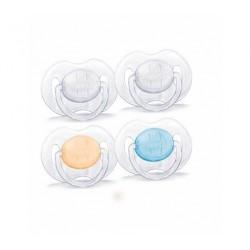 AVENT Sucettes transparentes 0-3 mois SCF120/01