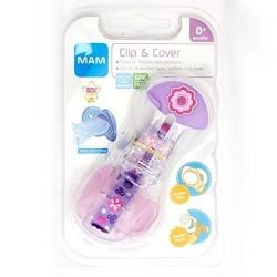 MAM Clip & Cover attache sucette avec protège tétine
