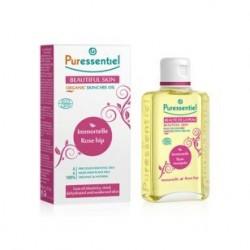 Puressentiel Huile de soin bio beauté de la peau Immortelle / Rose musquée 100ML