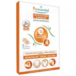 Puressentiel Patchs chauffants articulations & muscles 14 HE -3patchs