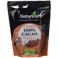 NATURELA 100% Cacao Maigre 10-12% mg Sans Sucre Bio 250 g - Lot de 6