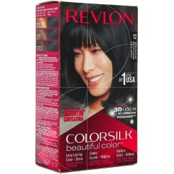 REVLON - COLORATION COLORSILK N°12 NOIR BLEUTÉ NATUREL