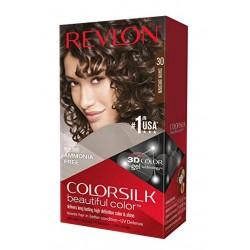 Revlon Colorsilk Lot de 3 coloriages pour cheveux Marron foncé