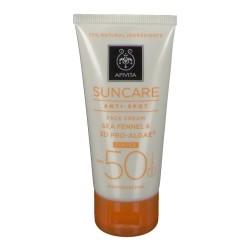 Apivita Sun Crème Visage Anti-Spot Tinté SPF50