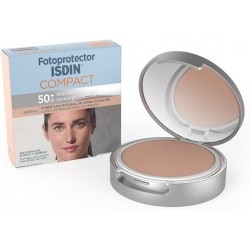 Fotoprotector ISDIN SPF-50 + MAQUILLAGE COMPACT COMPACT SANS HUILE ARENA 10 G
