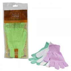 ARIX AQUA MASSAGE GLAMOUR EXFOLIATING NYLON GLOVES 2 PCS